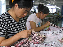 Textile workers in China