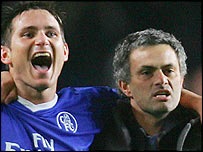 Frank Lampard and Jose Mourinho