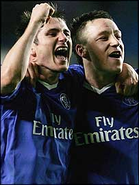 Chelsea pair Frank Lampard (right) and John Terry