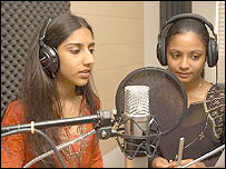 Image of Swathi and Alisha singing