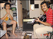 Image Srikanth and Kartik jamming