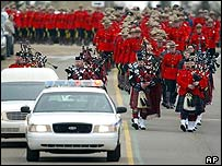 Funeral procession for slain RCMP Constable Peter Schiemann