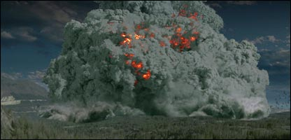 Supervolcano televisual impression (BBC)
