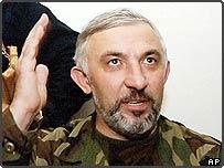 Chechen separatist leader Aslan Maskhadov