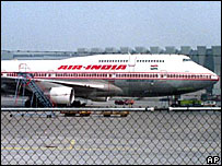 The Air India Boeing 747 at the Frankfurt Airport