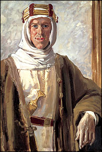Col T E Lawrence,1919, by Augustus John