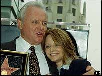 Sir Anthony Hopkins and Jodie Foster