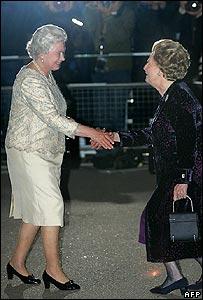 Margaret Thatcher meets the Queen