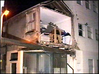 The collapsed house in St Leonards