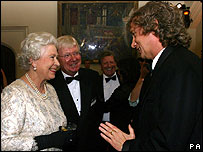The Queen with comedian Frank Skinner