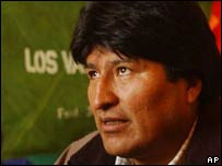 Evo Morales, diputado y dirigente del Movimiento al Socialismo (MAS).