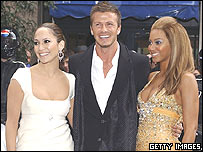 Jennifer Lopez, David Beckham and Beyonce
