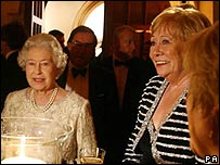 The Queen with Coronation Street actress Liz Dawn