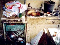 Inside Malcolm O'Malley's flat (copyright: RSPCA)