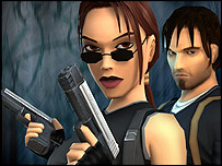 Artwork of Lara Croft game