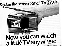 Sinclair portable TV 1984 (Thanks to Planet Sinclair)