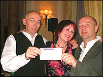 (l-r) Ian Bone, Jane Nicoll and Roy Norris