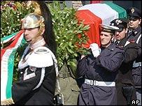 Nicola Calipari's funeral
