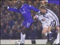 George Weah playing for Chelsea
