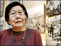 Yoshiko Hashimoto, who lost her parents in the attack