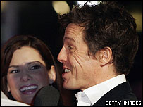 Sandra Bullock and Hugh Grant at the Miss Congeniality 2 premiere