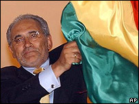 Presidente de Bolivia, Carlos Mesa.