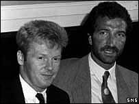 Mo Johnston and then Rangers manager Graeme Souness