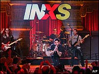 INXS with JD Fortune (centre)