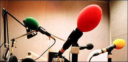 Micrófonos en un estudio