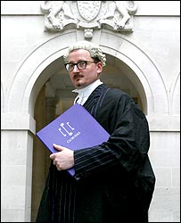 Photo of John Horan in barrister's wig and gown