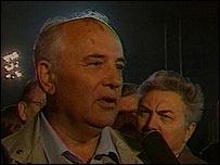 Горбачев по возвращении из Крыма в августе 1991 года