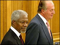Kofi Annan and King Juan Carlos