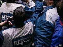 Refco brokers on the New York Mercantile Exchange