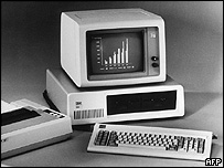 A 1981 model of IBM's personal computer