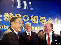 IBM and Lenovo executives