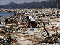 Devastation caused by Hurricane Katrina