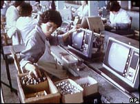 TV factory in China in 1980