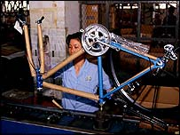 Chinese bicycle production