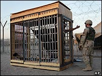 Solitary confinement cell at Abu Ghraib prison