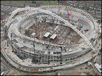 The new Wembley will be completed in early 2006