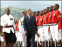 Prince Charles in Nadi, Fiji