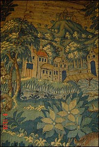 16th century tapestry at Mount Edgcumbe House