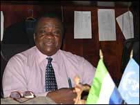Sierra Leone Justice Minister Frederick Carew