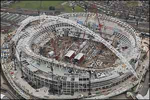 The new Wembley in spring 2005
