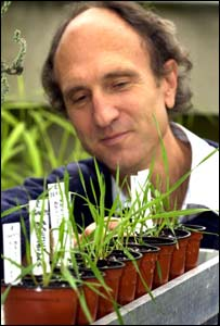 Simon Linington with Belgium grass