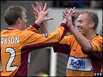 Richie Foran (right) opened the scoring