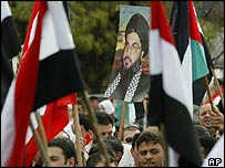 Hezbollah supporters at a rally in Beirut