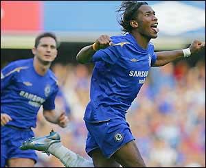 Didier Drogba celebrates