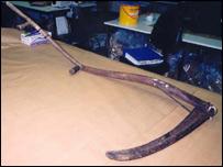 scythe used in attack