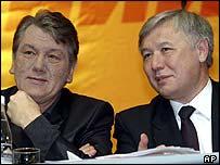 President Viktor Yushchenko with new Prime Minister Yuri Yekhanurov
